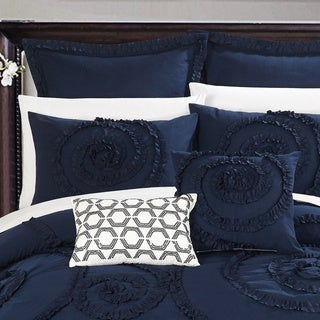 Link to Gracewood Hollow Harper 7-piece Navy Comforter Set Similar Items in Comforter Sets