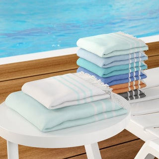 Palm Canyon Montecito Cotton Beach and Head Towel Set (Set of 2) (5 options available)