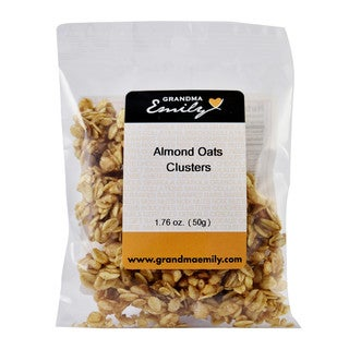 Almond Oats Clusters by Grandma Emily. Almond & Oats: Nutritious, Wholesome, Ready To Eat, Hearty Snack Packs 1.76 oz x 1