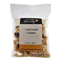 Fruit Crunch Clusters by Grandma Emily. Fruity Crunchy, Hearty Snack Packs with Raisins and Cranberries 1.76 oz x 4