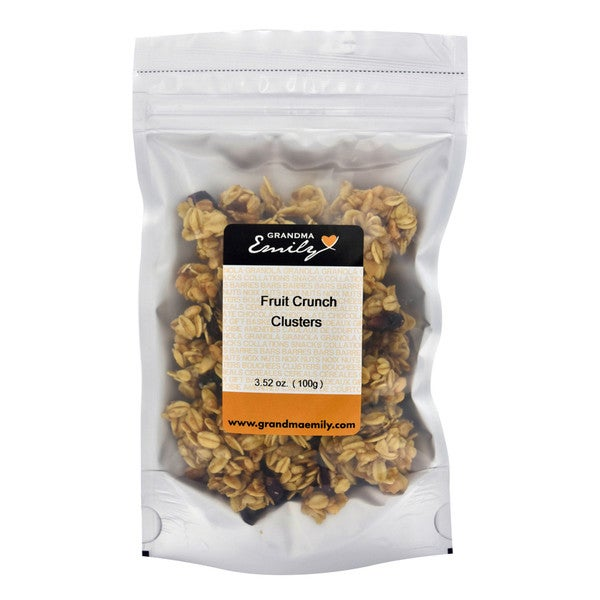 Fruit Crunch Clusters by Grandma Emily. Fruity Crunchy, Hearty Snack Packs with Raisins and Cranberries 3.52 oz x 1