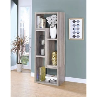 Modern Style Wooden Bookcase, Gray