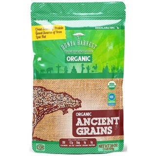 Dunya Harvest Organic Ancient Grain Blend with Slight Nutty Flavors of Quinoa and Buckwheat, All Naturally 16 oz x 4