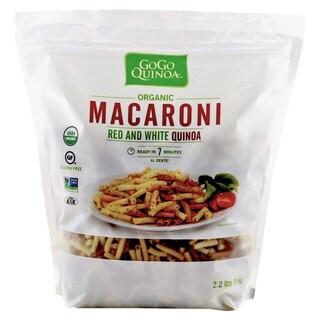 GoGo Quinoa Organic Premium Quality Vegan Red and White Macaroni Pasta, Non-GMO Project Verified & Kosher Certified 2.2 lbs x 4