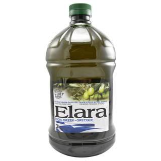 Elara Extra Virgin Olive Oil, Cold Pressed. 100% Greek Koroneiki Olives. Vitamins A and E, Kosher 101.4 fl oz x 1