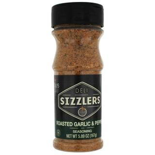 Altius Deli Sizzlers Roasted Garlic & Pepper Seasoning, With Unique Blend, Great and Rich Savory Flavor 5.89 oz x 1