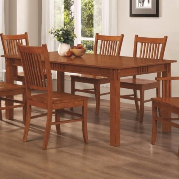 Shop Traditional Mission Style Wooden Dining Table, Brown