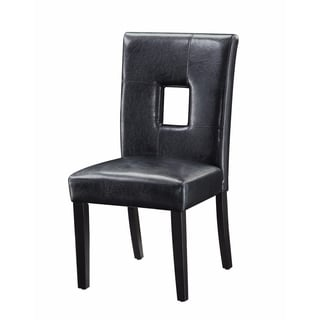 Contemporary Dining Upholstered Side Chair, Black, Set of 2
