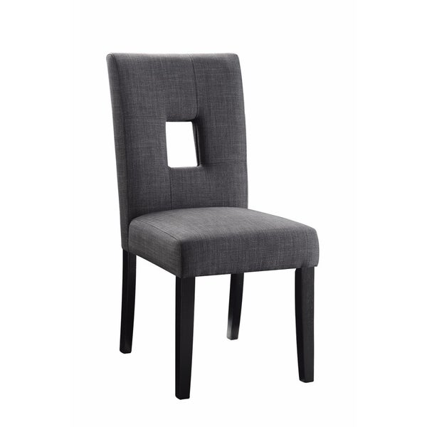 Wooden Dining Side Chair, Gray & Black, Set of 2