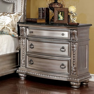 Furniture of America Rern Traditional Gold Solid Wood Nightstand