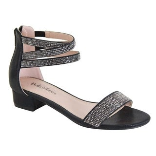 Bella Marie Women's Embellished Rhinestone Back Zipper Dress Sandals