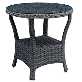 Furniture of America Elliot Contmporary Grey Glass Patio Table