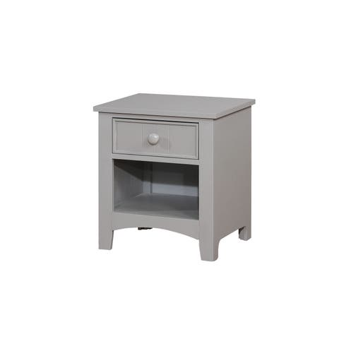 Shane Transitional Grey 1-drawer Youth Nightstand by FOA