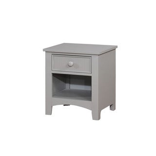 Furniture of America Shane Transitional Grey 1-drawer Youth Nightstand