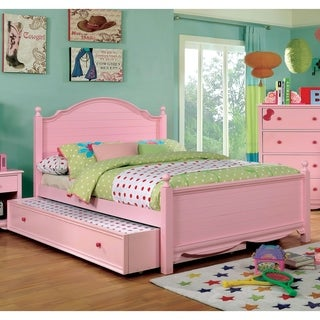 Matilda Transitional Full 2-piece Youth Bed with Trundle Set by FOA