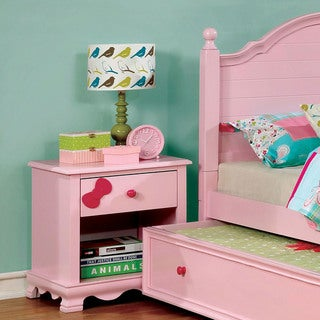 Link to Furniture of America Jevi Transitional Solid Wood Youth Nightstand Similar Items in Kids' & Toddler Furniture