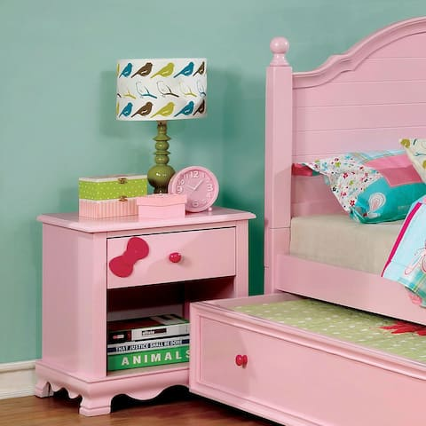 Matilda Transitional 1-drawer Youth Nightstand by FOA