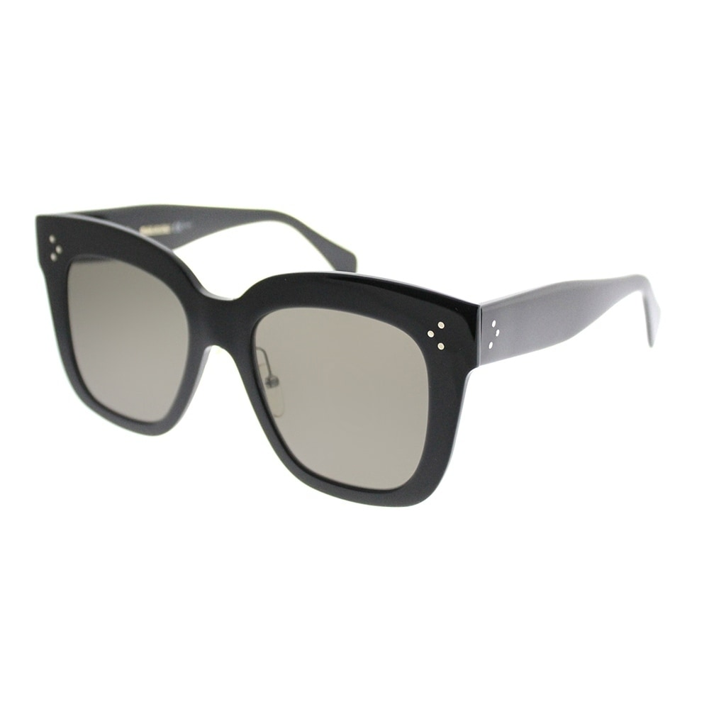 f3eb600743 Shop Celine Square CL 41444 Kim 06Z 2M Women Black Frame Brown Lens  Sunglasses - Free Shipping Today - Overstock - 19974467