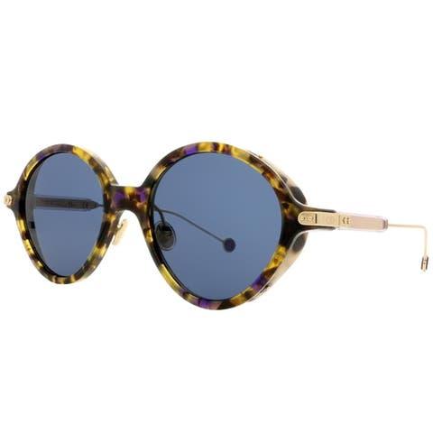 94a4d8a8850d Dior Oval CD Umbrage 0X4 KU Women Blue Havana Frame Blue Lens Sunglasses