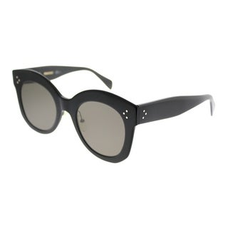 Celine Square CL 41443 Chris 06Z 2M Women Black Frame Brown Lens Sunglasses
