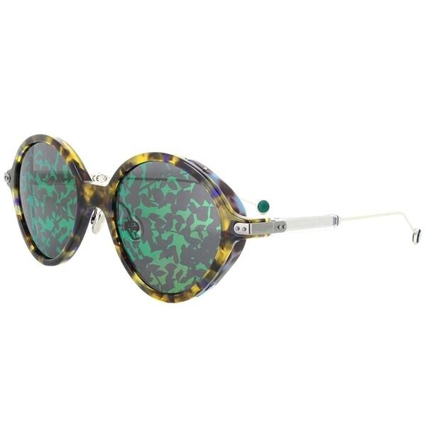 b0aea54d8f5 Dior Oval CD Umbrage 0X8 TW Women Blonde Havana Frame Green Mirror Lens  Sunglasses