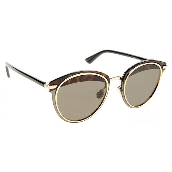 9b1d30ce6e5 Shop Dior Round Dior DiorOffset1S 581 Womens Havana Black Frame Brown AR  Lens Sunglasses - Free Shipping Today - Overstock - 19974476