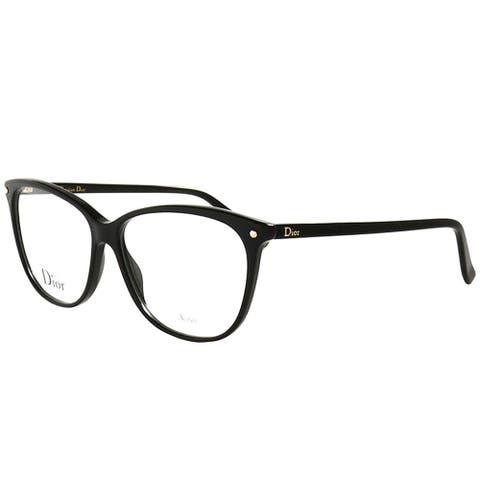 Dior Rectangle CD 3270 807 Women Black Frame Eyeglasses
