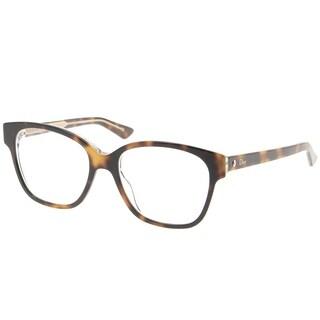 Dior Square CD Montaigne8 G9Q Women Havana Crystal Frame Eyeglasses
