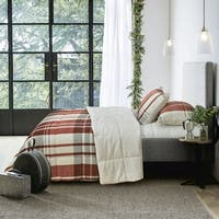 Adrien Lewis - Woodland 3pc Plaid Micromink Reversible Comforter Set