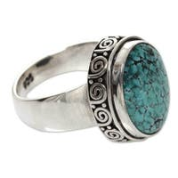 Handmade Sterling Silver 'Heavenly' Turquoise Ring (Indonesia)