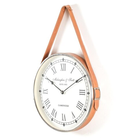 Poitiers Notre Dam Wall Clock with leather belt