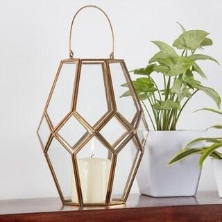 La Rochelle Brass & Glass Hurricane Lantern