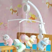 Baby Crib Mobile Bed Bell Toy Holder Arm Bracket Hanging Music Box