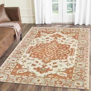 LR Home Modern Traditions Legacy Orange Indoor Area Rug ( 9' x 12' ) - 9' x 12'