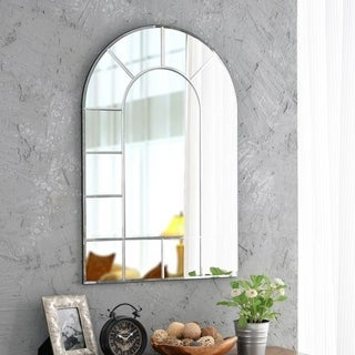 "Design Craft Outlook 35.5"" Silver Wall Mirror"