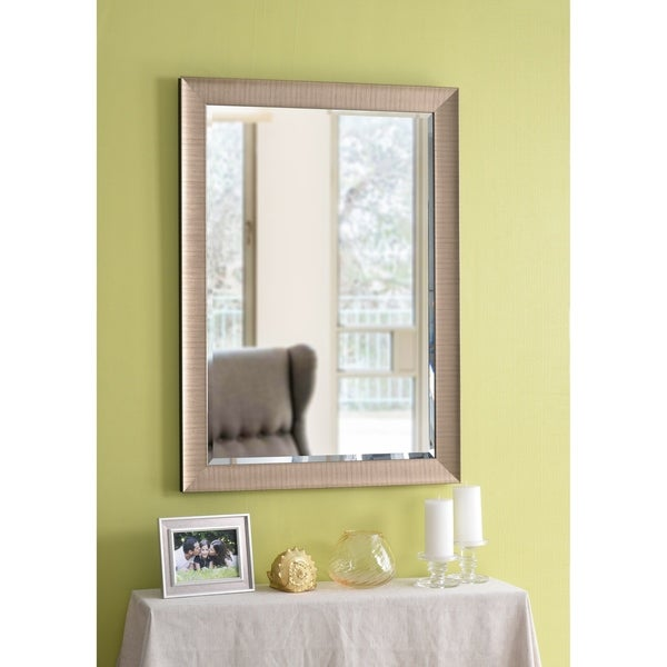 Shop Design Craft Perignon 42 Wall Mirror Brushed Champagne