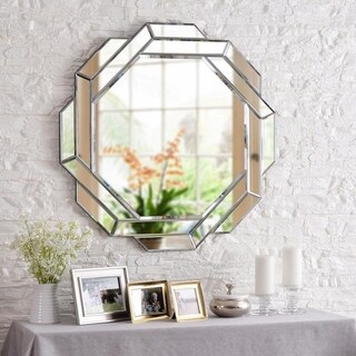 "Design Craft Konnect 33.75"" Glass Wall Mirror"