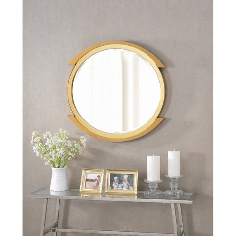 Chromium 24 Inch Height Gold Wall Mirror
