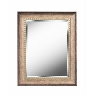 Antique Wood Traditional Rectangular 26 Inch Wall Mirror