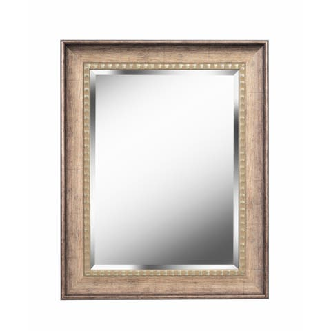 """Somme 30"""" Wall Mirror - Antiqued Gold - 30"""" x 24"""""""