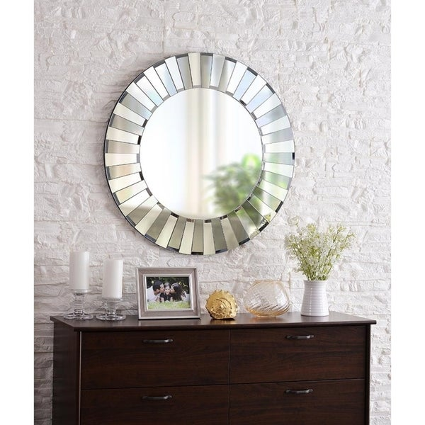 Shop Design Craft Audrie 31 5 Wall Mirror Grey Clear Glass Free