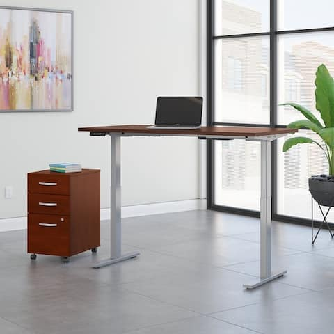 Move 60 Series 60W x 24D Height Adjustable Standing Desk with Storage