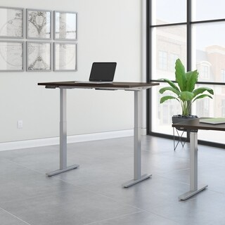 Move 60 48W Height Adjustable Desk, Mocha Satin & Gray