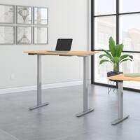 Move 60 Series 48W Height Adjustable Standing Desk in Natural Maple