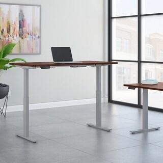 Move 60 60W Height Adjustable Desk, Hansen Cherry & Gray