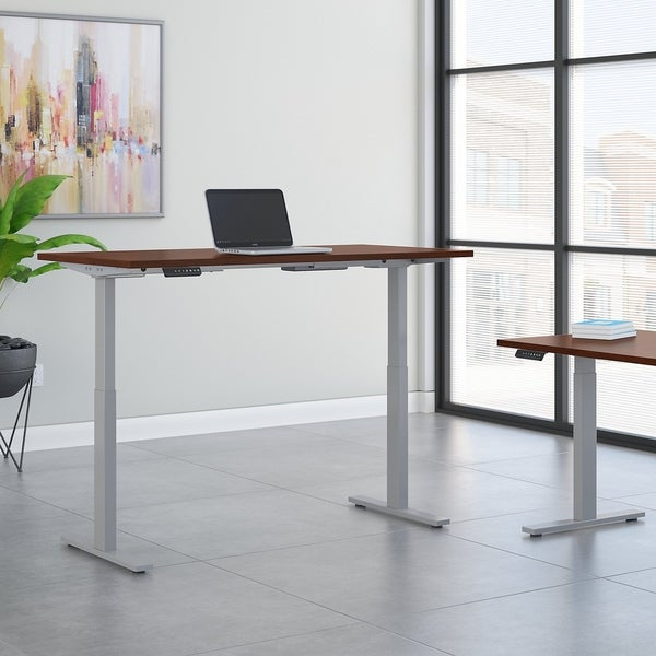 Move 60 Series 72W Height Adjustable Standing Desk in Hansen Cherry