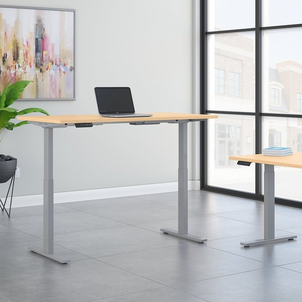 Move 60 Series 72W Height Adjustable Standing Desk in Natural Maple
