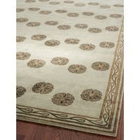 Safavieh Couture Hand-Knotted Contemporary Antique / Moss Wool & Silk Rug - 8' x 10'