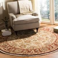 Safavieh Couture Hand-Knotted Old World Vintage Ivory / Rust Wool Rug - 8' Round