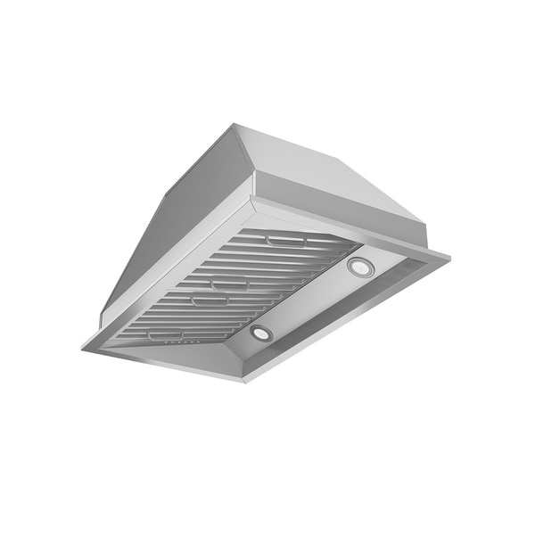 shop ancona chef insert 28 in range hood with led in stainless